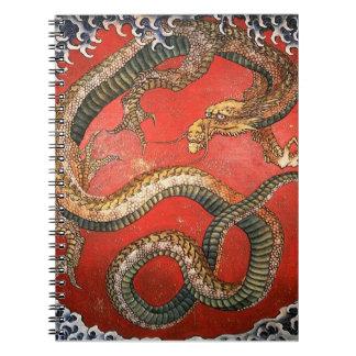 Dragon, Hokusai Japanese Fine Art Notebook