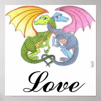 Dragon Hugs Poster