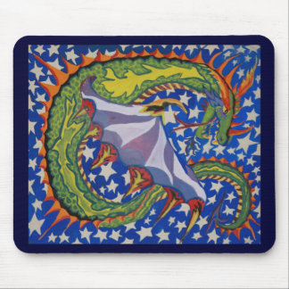 Dragon in the Stars Mouse Pad