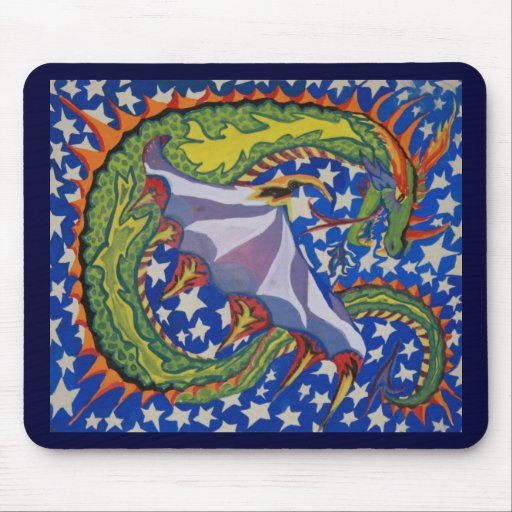 Dragon in the Stars Mousepad