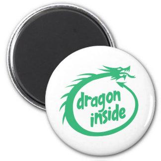 Dragon Inside 2 Inch Round Magnet