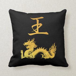 Dragon Japanese Symbol: King Throw Pillow