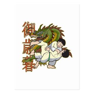 Dragon Karate Fighters Postcard
