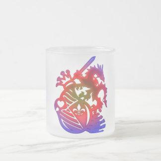 Dragon_Knight 10 Oz Frosted Glass Coffee Mug
