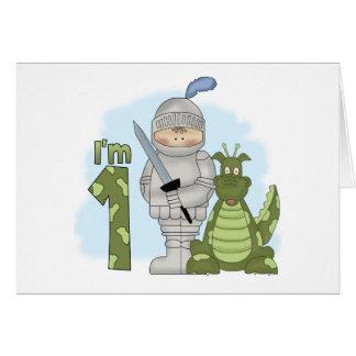 Dragon Knight 1st Birthday Note Card