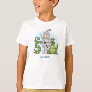 Dragon Knight 5th Birthday Personalized T-Shirt