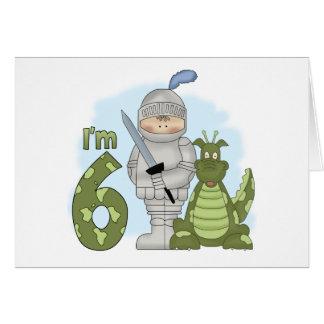 Dragon Knight 6th Birthday Note Card