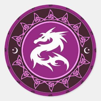 Dragon Knot 9 Classic Round Sticker