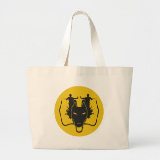 Dragon Kung fu Large Tote Bag