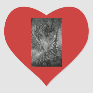 Dragon Lady fantasy art by cfw Heart Sticker