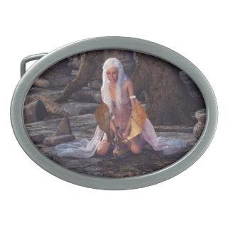 Dragon Lady Oval Belt Buckles