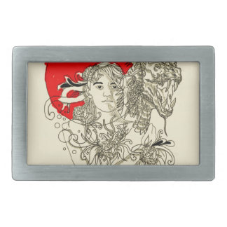 dragon lady rectangular belt buckles