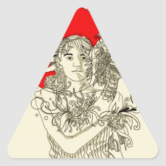 dragon lady triangle sticker