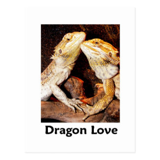 dragon love postcard