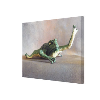 Dragon Mache Frog Snack Stretched Canvas Prints