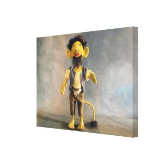 Dragon Mache Mountain Troll Gallery Wrap Canvas