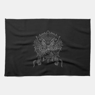 Dragon Mandala Tattoo Design Kitchen Towel