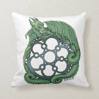 Dragon Mandala Throw Pillow