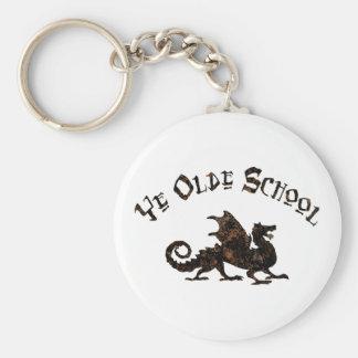 Dragon médiéval Keychain d école d antan du YE
