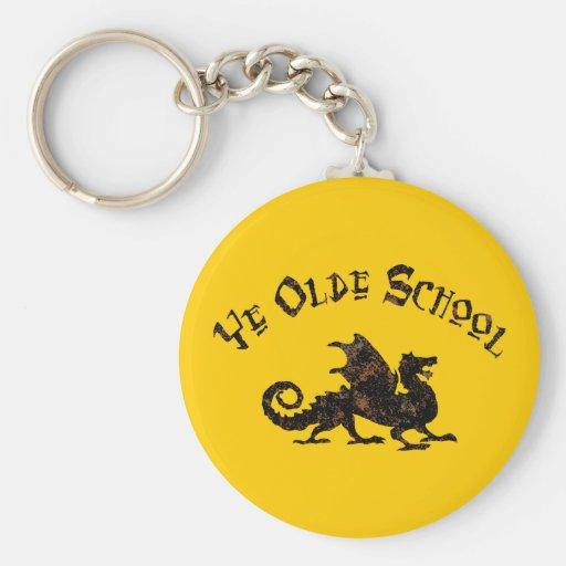 Dragon médiéval Keychain d'école d'antan du YE Porte-clefs