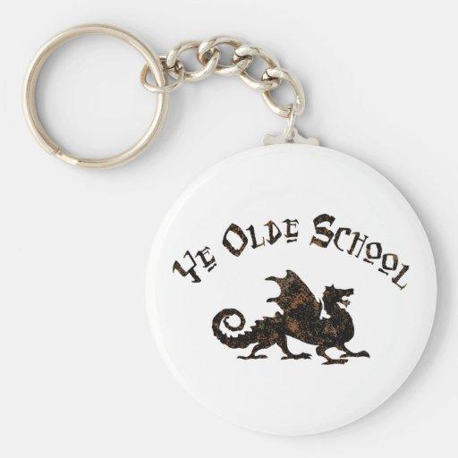 Dragon médiéval Keychain d'école d'antan du YE Porte-clés