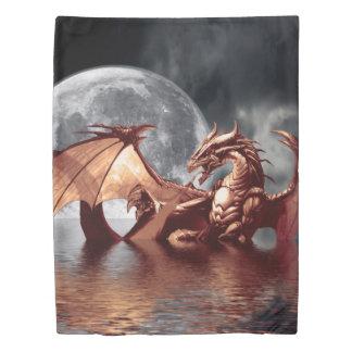 Dragon Moon Fantasy Art Duvet Cover