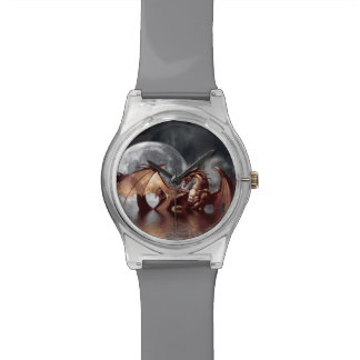 Dragon & Moon Fantasy Design Watch
