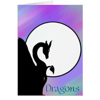 Dragon Moon I (Colorful Haze) Greeting Card