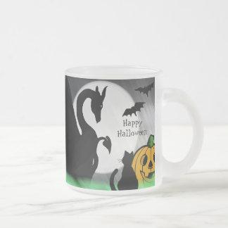 Dragon Moon I Halloween 10 Oz Frosted Glass Coffee Mug