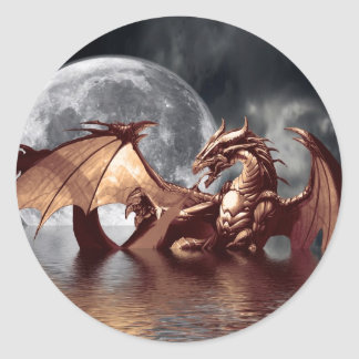 Dragon Moon Stickers