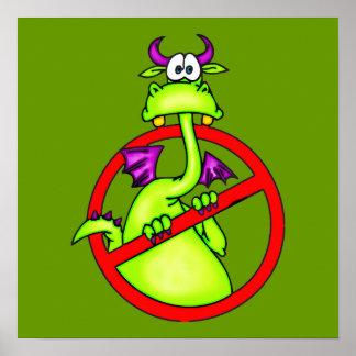 Dragon n a pas permis le symbole posters