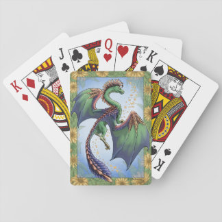"""Dragon of Summer"" Flowers Fantasy Art Playing Cards"