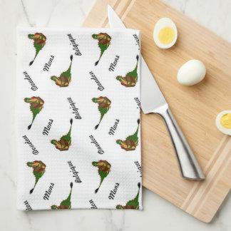 Dragon of the city Mons, Belgium Kitchen Towel