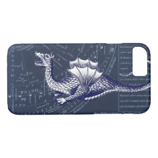 Dragon on Bue Gobal Chart iPhone 8/7 Case