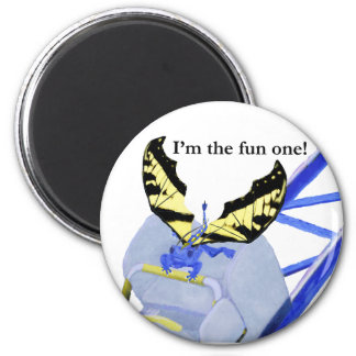 Dragon on Roller Coaster 2 Inch Round Magnet