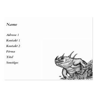 Dragon on the Rock Large Business Card
