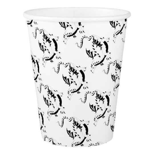 dragon paper cup