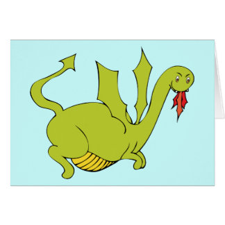 Dragon Party Invitation - Matching Stamp Available Greeting Card