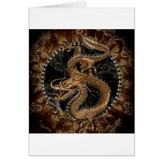 Dragon Pentagram Card