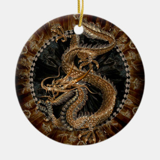 Dragon Pentagram Ceramic Ornament