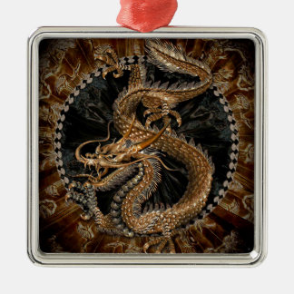 Dragon Pentagram Metal Ornament