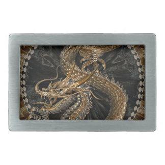 Dragon Pentagram Rectangular Belt Buckle