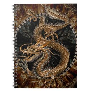 Dragon Pentagram Spiral Notebook