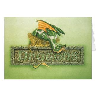 DRAGON PLAQUE CARD