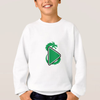 Dragon Play Button Side Retro Sweatshirt
