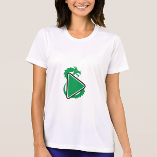 Dragon Play Button Side Retro T-Shirt