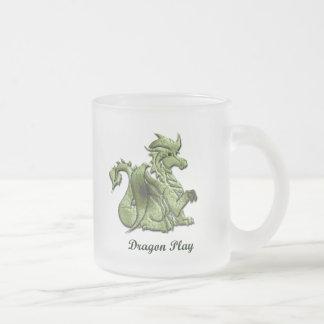 Dragon Play Frosted Mug