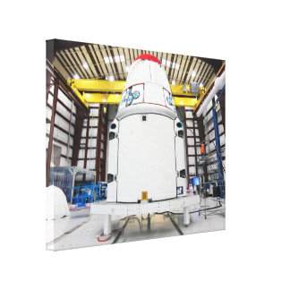 Dragon Prepares to Resupply Stretched Canvas Prints