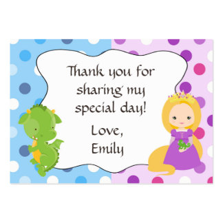 Dragon Princess Gift Favor Tag Thank You Label Large Business Card