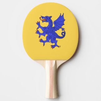 Dragon Rampant Azure Ping Pong Paddle